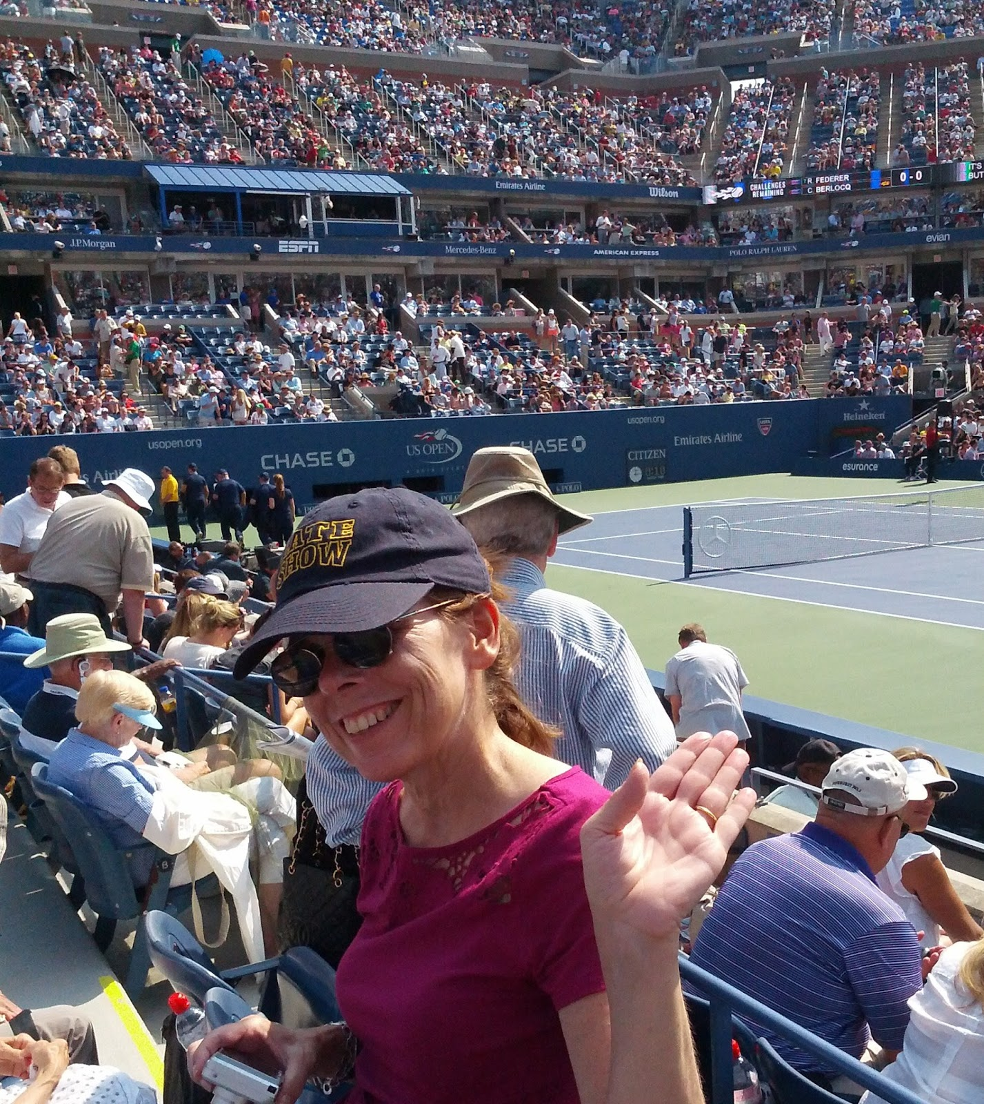 courtside at the US Open Tennis