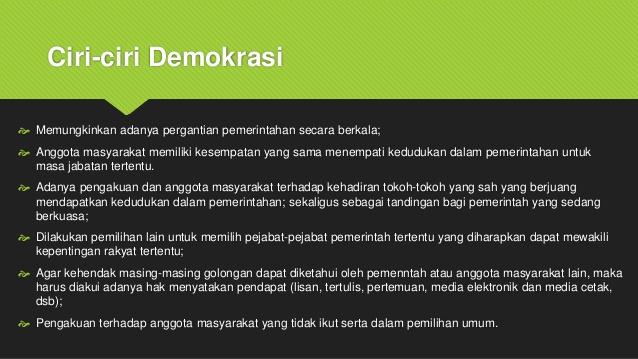 Ciri Ciri Demokrasi Dan Prinsip Demokrasi Definisi Pengertian