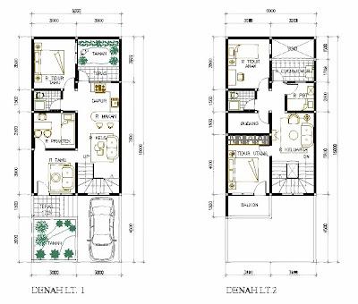 Gambar Contoh Sketsa Rumah Minimalis