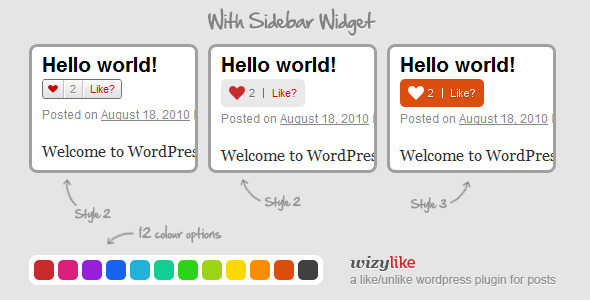 WizyLike Like/Unlike - WordPress Plugin Free Download by CodeCanyon.