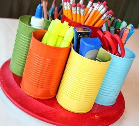 d co fait main id e d co facile pour chambre d 39 enfant pot crayon. Black Bedroom Furniture Sets. Home Design Ideas