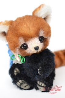 Artist teddy panda, red panda, NatalKa Creations, teddies with charm, artist teddy bear,handmade teddy, ooak teddy, Künstlerteddy, Künstlerpanda, Panda Bär, Unikat, красная панда, малая панда, панда тедди, мишка теддиручная работа