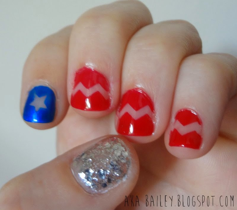 July 4th Nails, Independence Day nails
