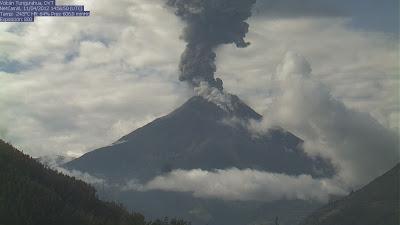 Volcán Tungurahua 11 de Abril de 2012