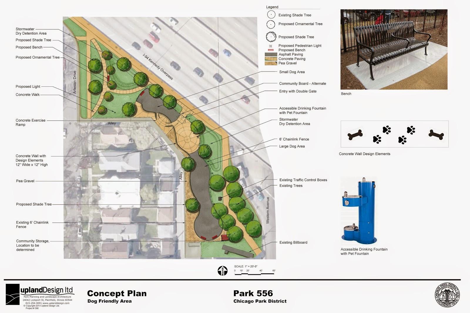 Logan Square Dog Park Architectural Plans For The Dog Park - Map of chicago dog parks
