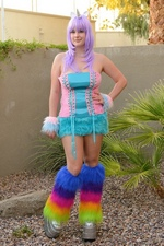Horny Halloween unicorn masturbates while trick or treating pics - Danielle FTV