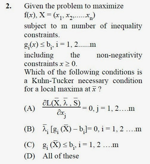 2013 December UGC NET in Computer Science and Applications, Paper III, Question 2