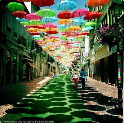 Picture of colourfull umbrella