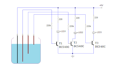 SIMPLE WATER LEVEL INDICATOR CIRCUIT USING TRANSISTORS My Circuits 9