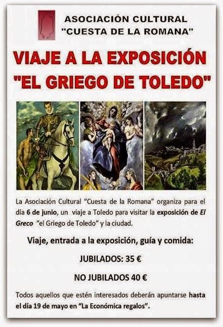 6/Junio. Viaje cultural a Toledo. Candelario