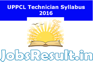 UPPCL Technician Syllabus 2016