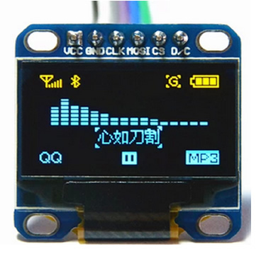 Library for 128x64 graphical display OLED  Driver SSD1306