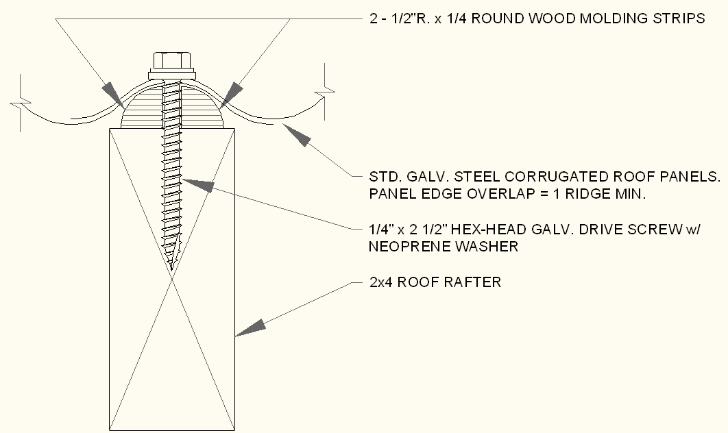 Casey Building Design: How to install corrugated metal roofing