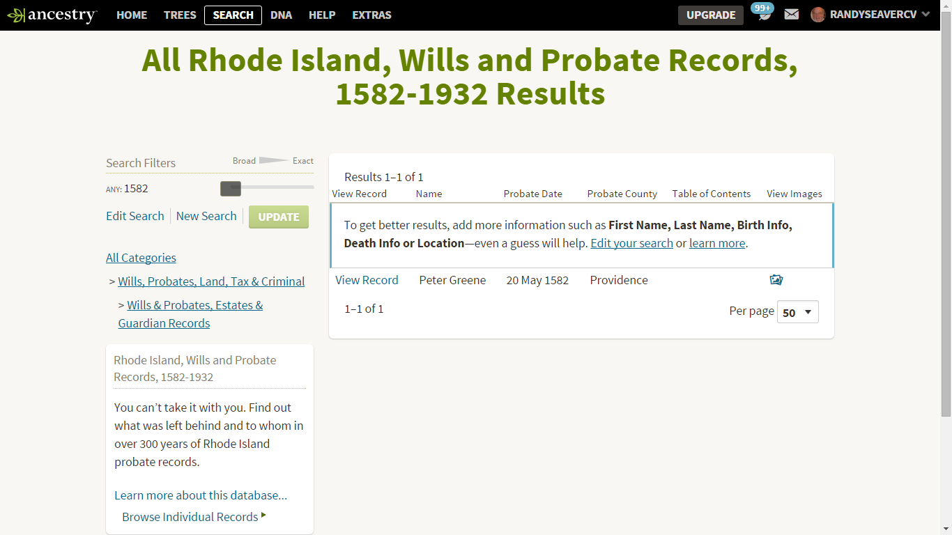 Rhode Island Wills And Probate Records