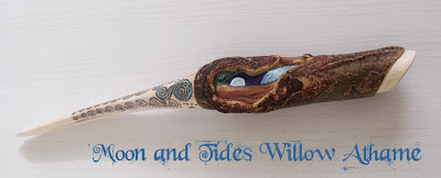 Moon and Tides Athame in Willow from MoonsCrafts.
