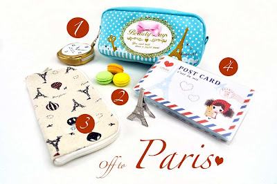 Parisian themed school supplies at CoolPencilCase.com