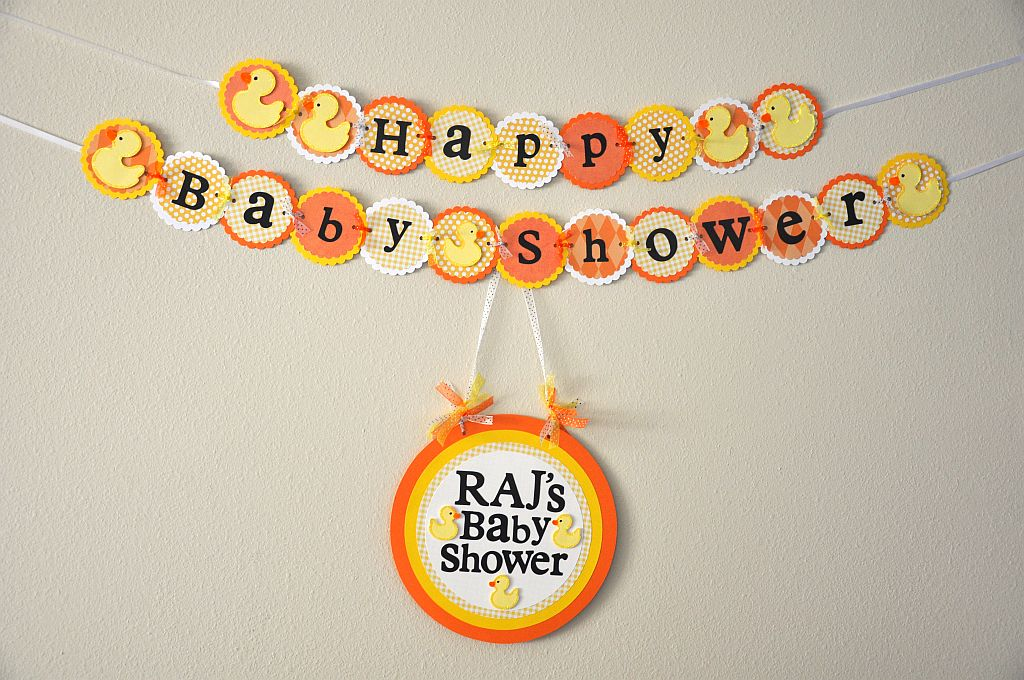 scrappin ashley 39 s parties more baby shower banner and door sign