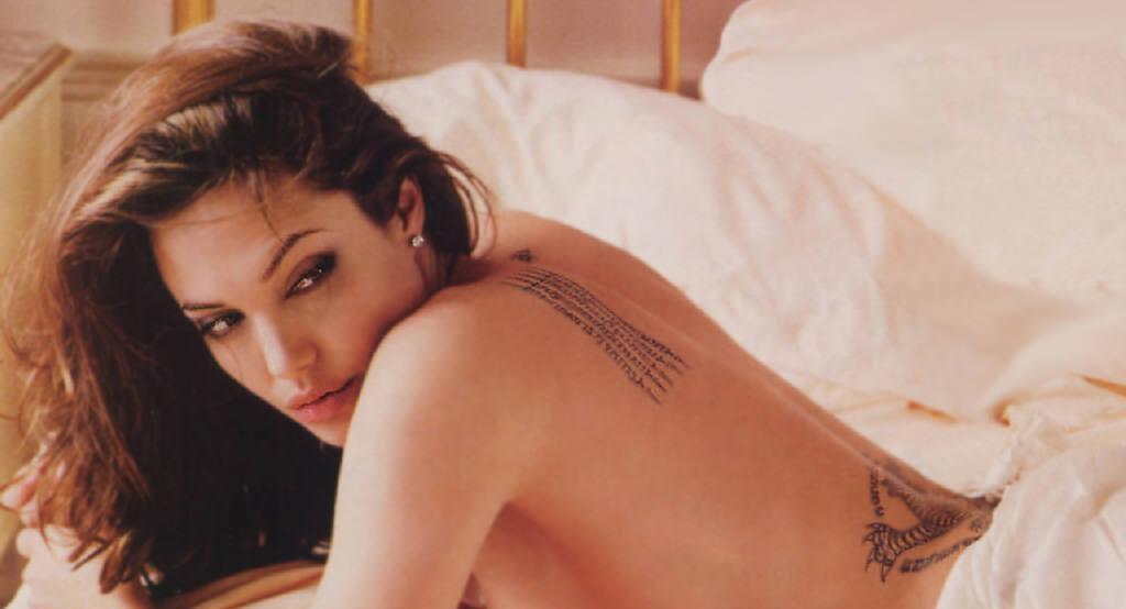 Signification Tatouage Angelina Jolie - Angelina Jolie Un nouveau tatouage en arabe