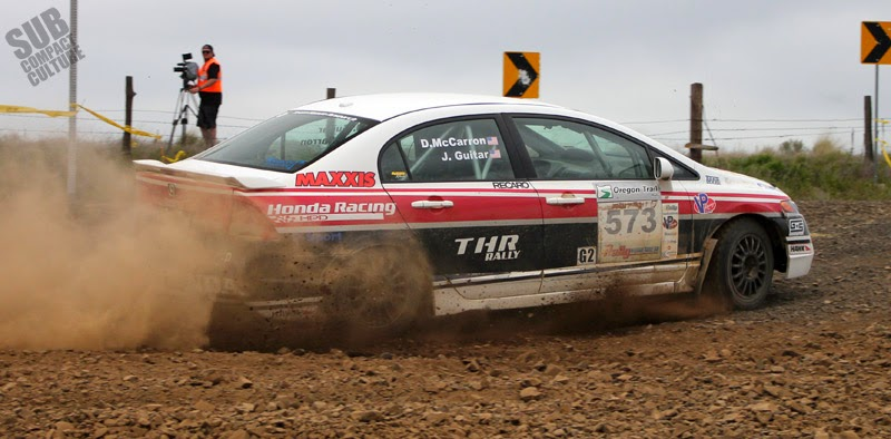 Honda Factory Performance Civic rally car at Oregon Trail Rally
