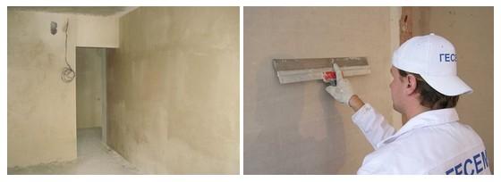 Шпаклевка стен после штукатурки