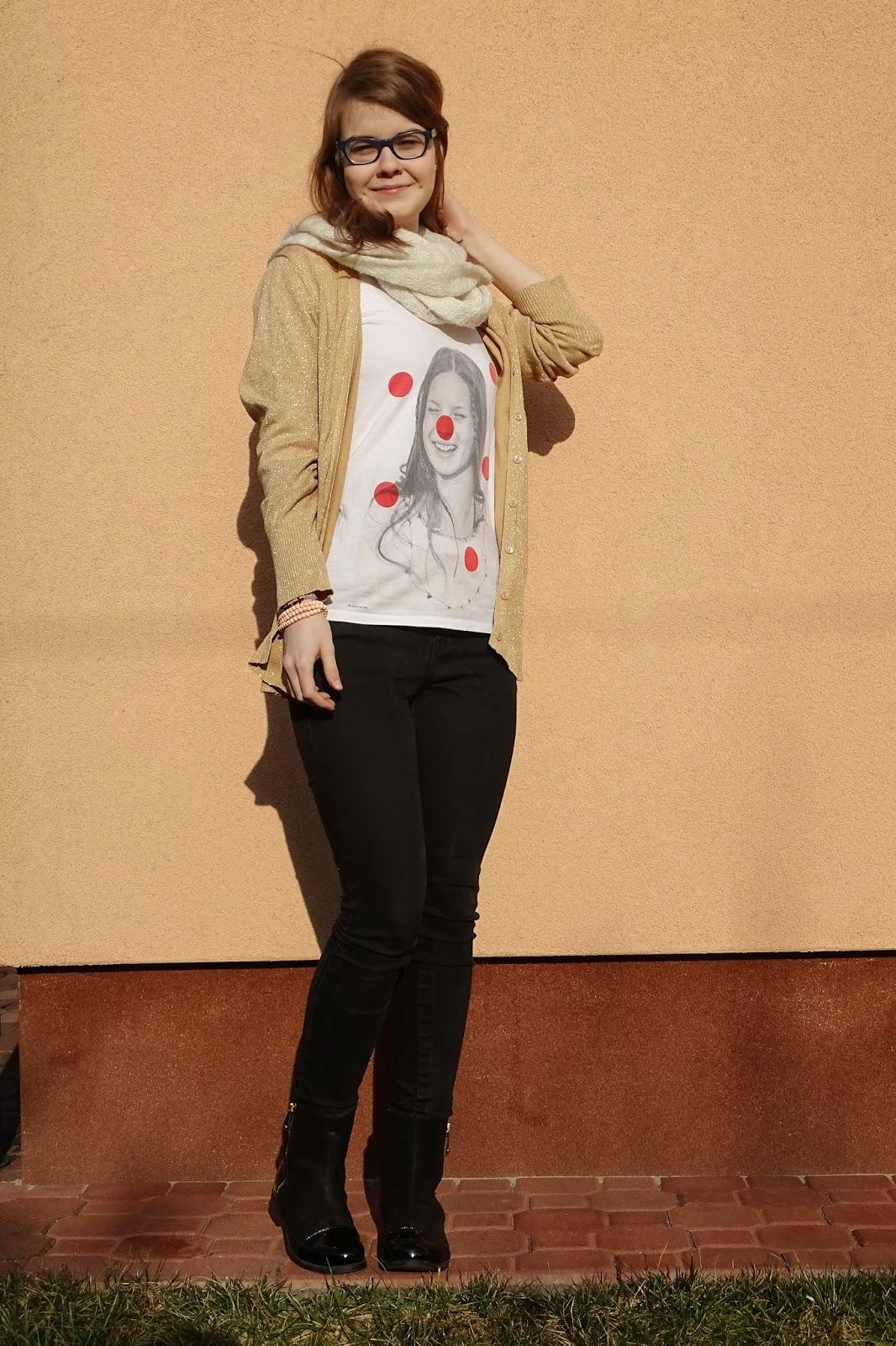 OOTD: Stella Mccartney+ złoty sweter