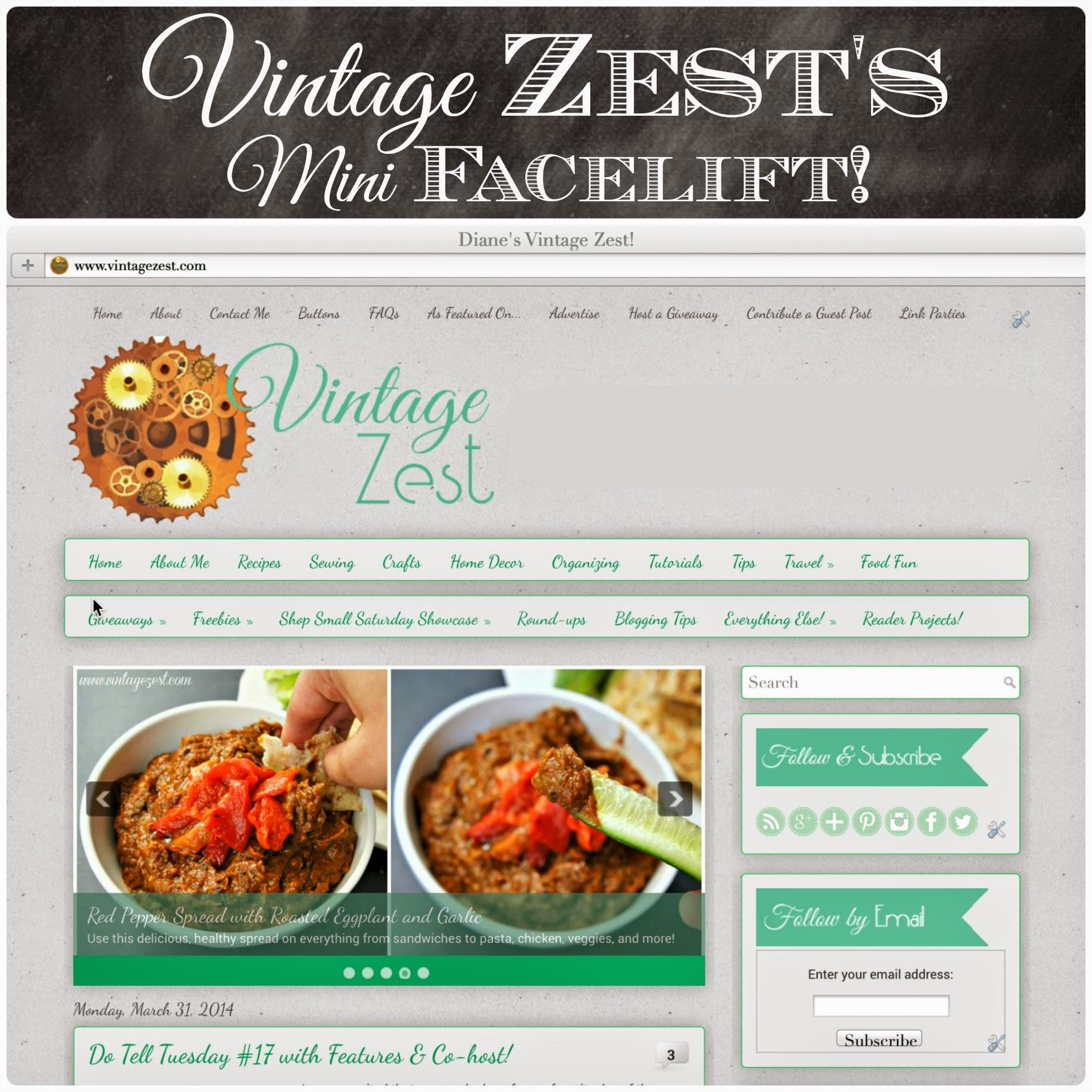 Vintage Zest's Mini Facelift! (a.k.a. My Blog Layout Redesign) on Diane's Vintage Zest!