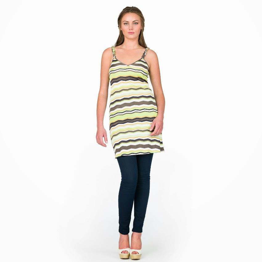 Strandkleid Nassau grün-braun von Gattina