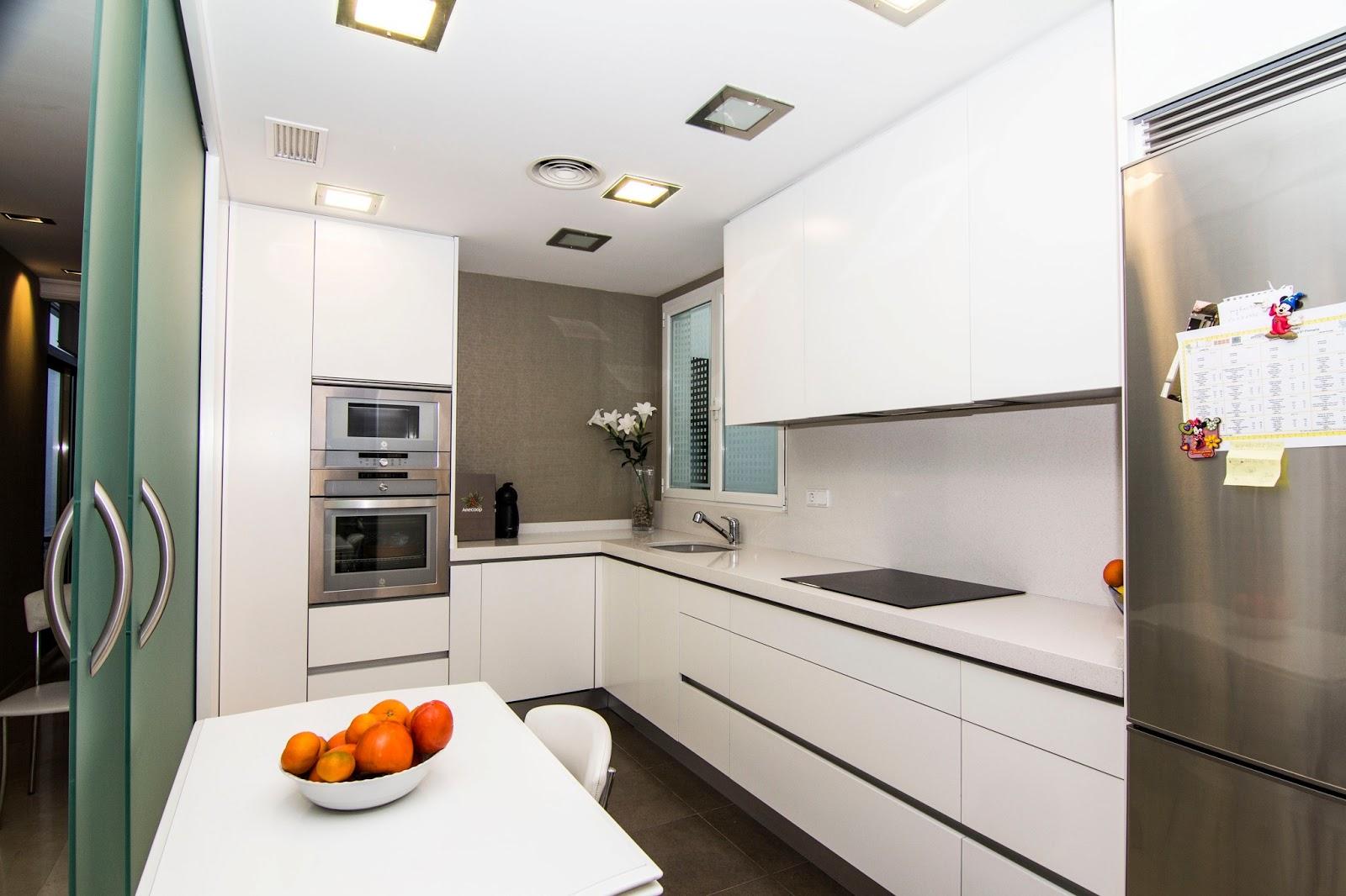 Nivel diez cocina abierta al sal n - Cocina salon separados cristal ...