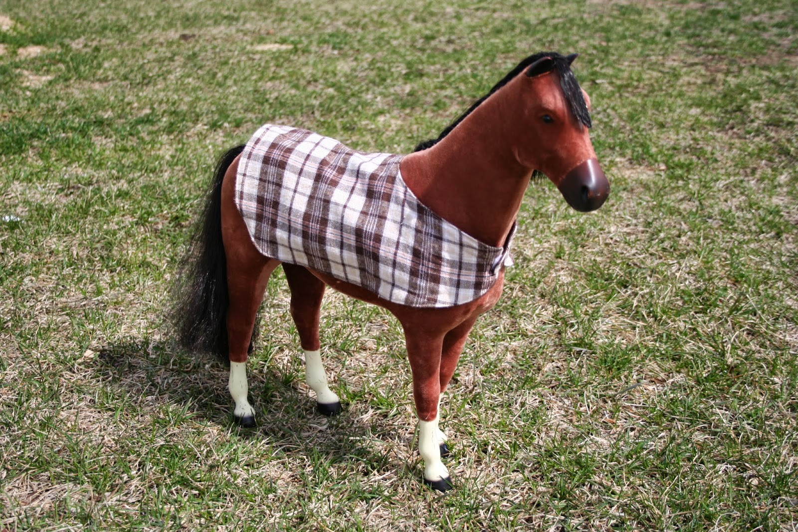 Horse arts and crafts - Reversible Horse Blanket For American Girl Doll