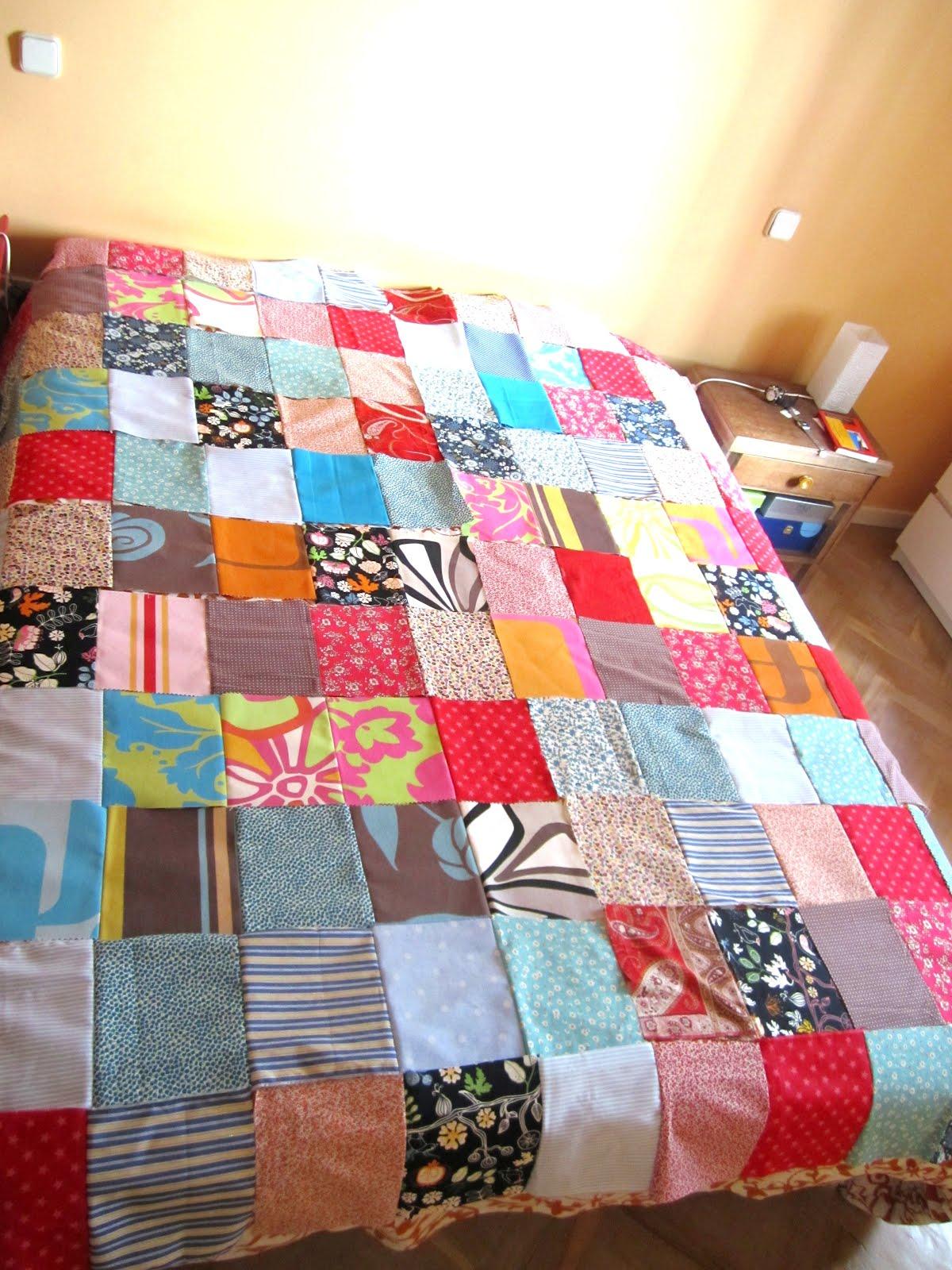 Como hacer una colcha patchwork imagui - Casas de patchwork ...