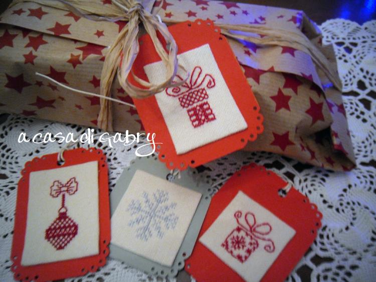 Famoso A Casa di Gabry: Tag natalizie a punto croce, per rendere più  CX14