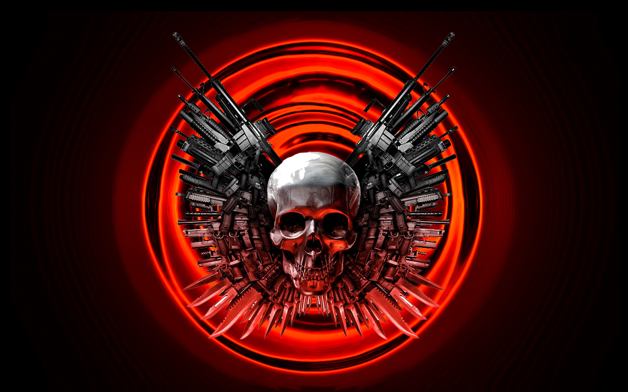Skull And Gun Scary Wallpapers HD