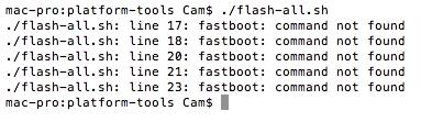 flash-all.sh script error