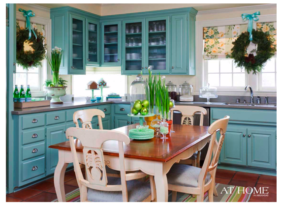 beautiful aqua kitchen