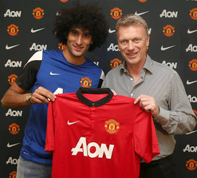 Marouane Fellaini Manchester United Midfielder 20132014