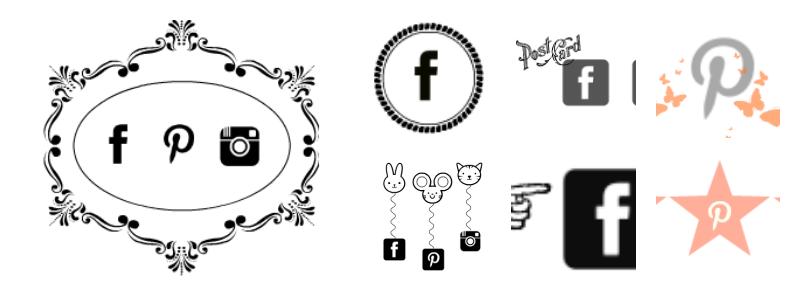 baner społecznościowy, widget, facebook, pinterest, instagram