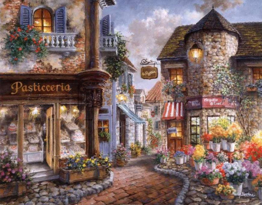 Nicky boehme american romantic painter tutt 39 art for Old house music artists