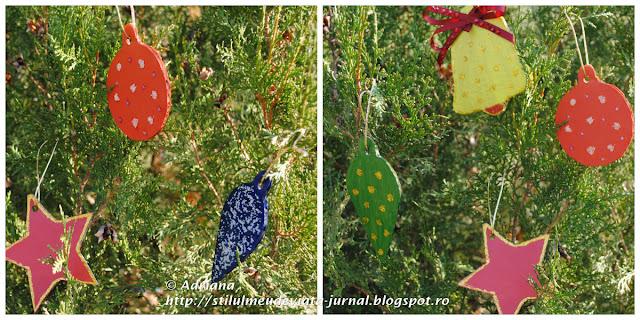 ornamente de craciun din carton reciclat