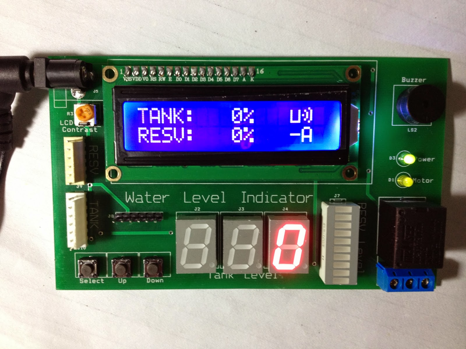 Water Level Indicator Using Atmega16 Microcontroller Saeeds Blog Led Clock Pic
