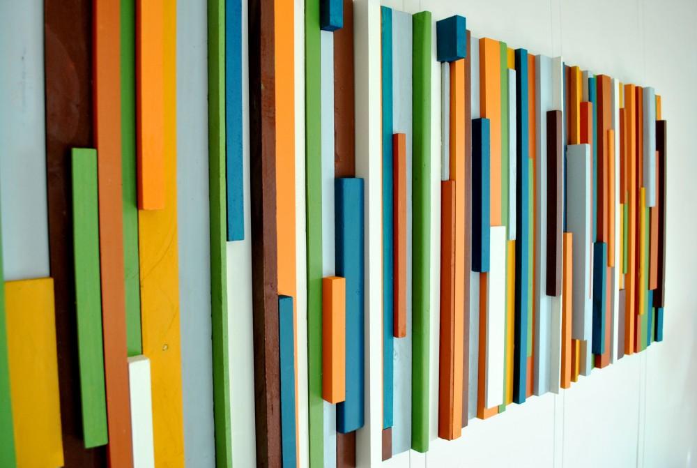 DIY Painted Wood Wall Art | Dans le Lakehouse