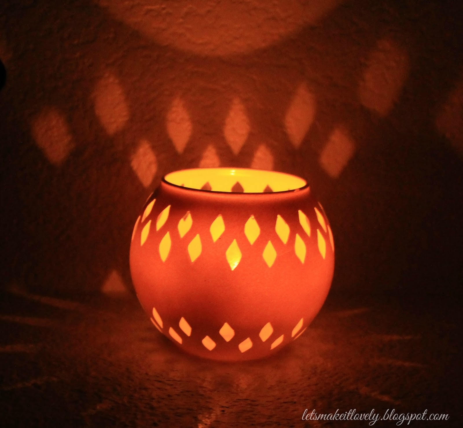Beautify a plain dollar store candle holder. Diwali Decor. Home Decor. Christmas Gift Idea