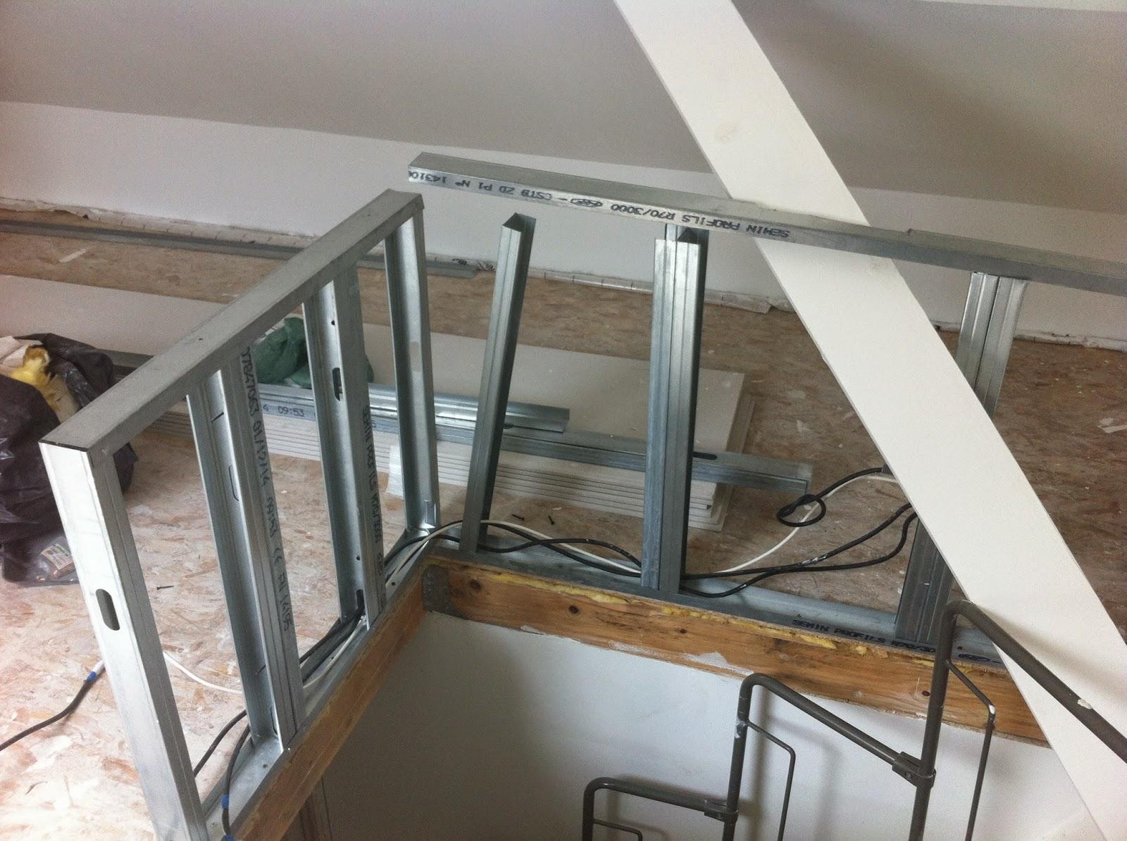 R novation de notre maison faches thumesnil suite de la for Pose de rail placo dans les combles