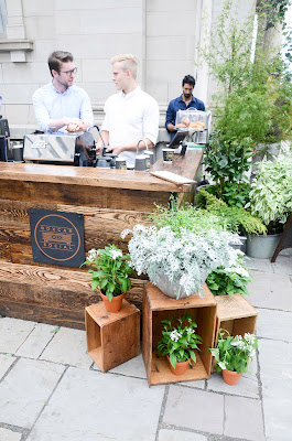 Boxcar coffee at Club Monaco summer marketToronto