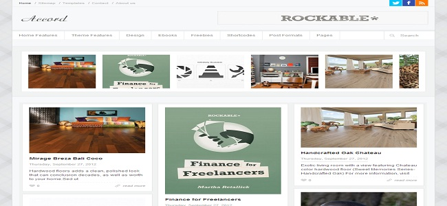 Fashion Blogger Template Accord