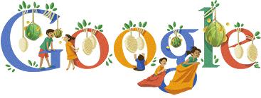 Google logo merayakan dirgahayu indonesia ke-67