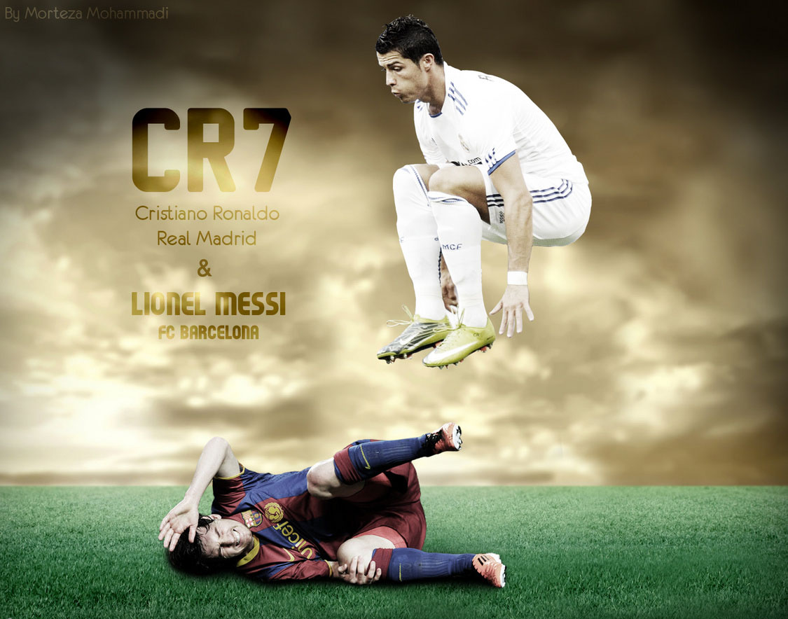 messi vs ronaldo wallpapers spirit players