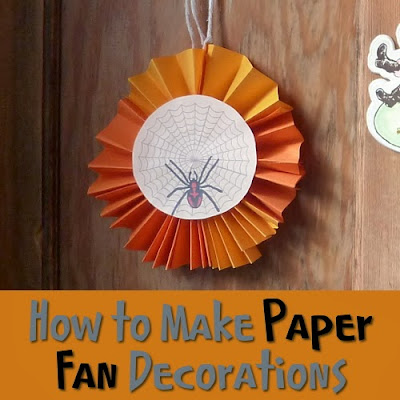Make paper fan decorations craft for kids or adults