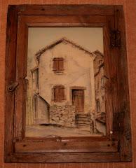 Fenètre sur maison  (St André de valeborgne)