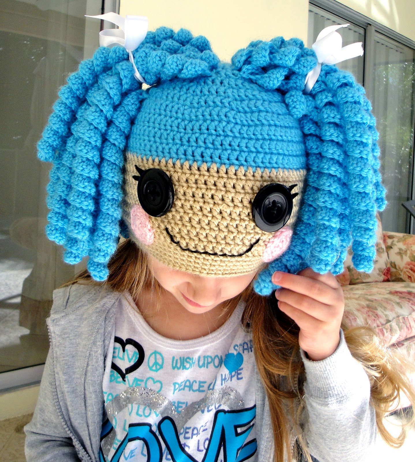 Free Crochet Pattern For Lalaloopsy Hat : Happiness is Homegrown: New Lalaloopsy Inspired Hat