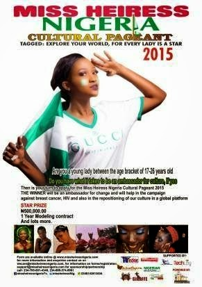 Sponsored Ad : Registration For Miss Heiress Nigeria 2015 currently On
